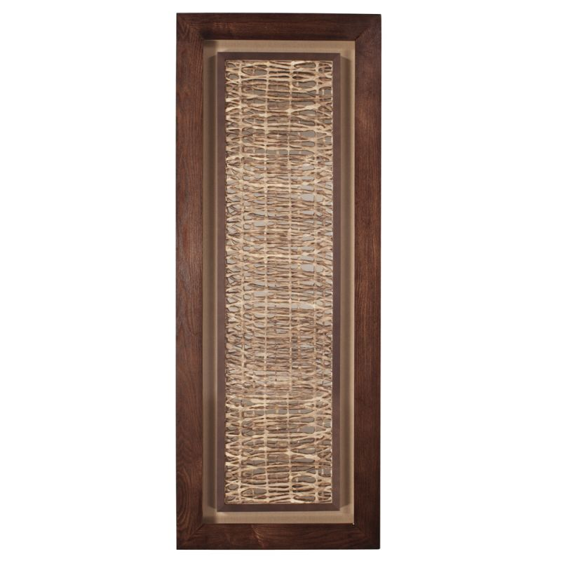 Howard Elliott 64043 Wall Art Tea Stained Abstract Paper Walnut Brown