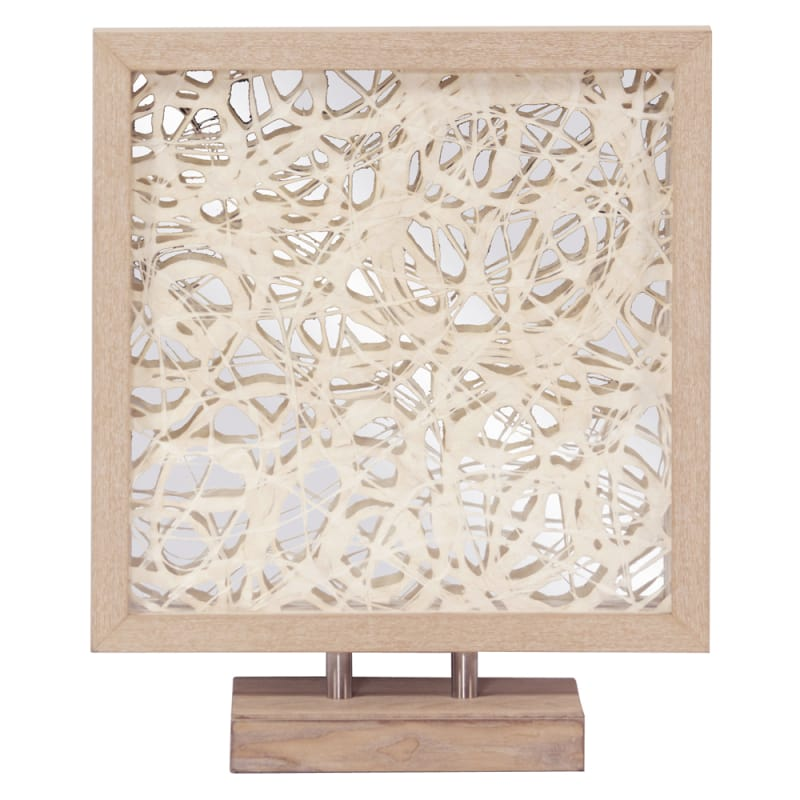 Howard Elliott Blonde Tree Bark Abstract Design in Maple Frame 20.5""