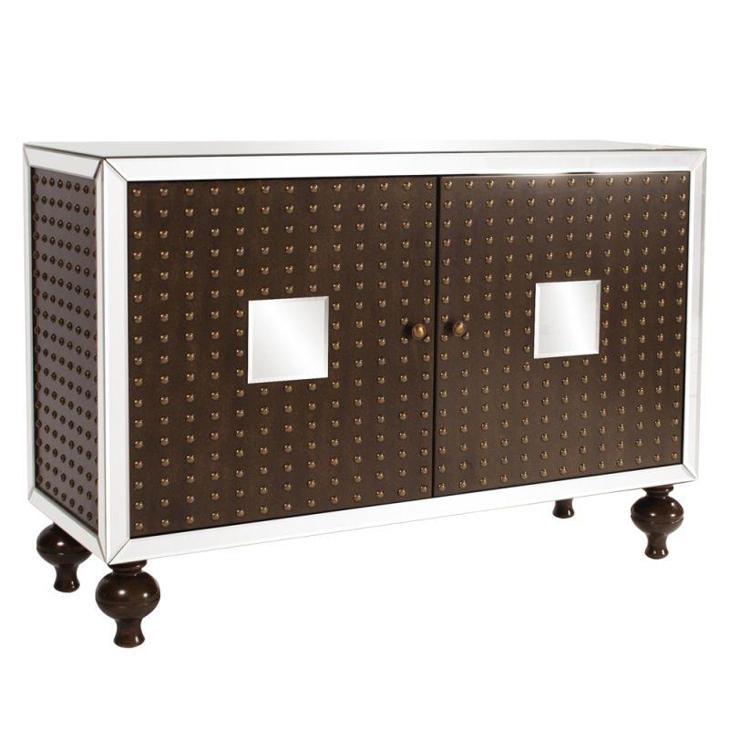 "Howard Elliott Maxim Buffet Cabinet 49"" Wide Wood and Glass Cabinet Sale $1154.89 ITEM#: 2855485 MODEL# :68053 UPC#: 848635009872 :"