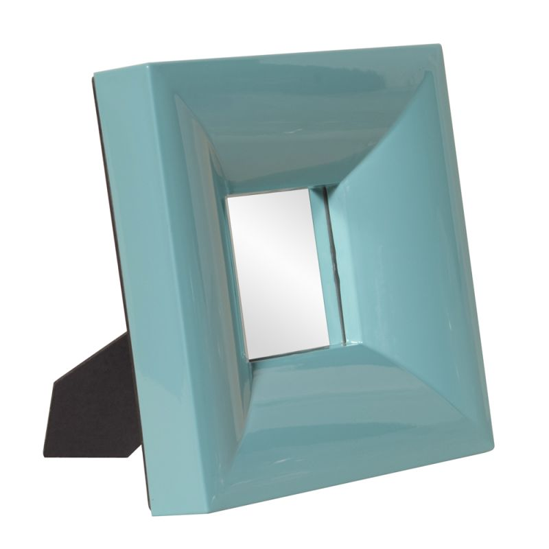 "Howard Elliott 78003 Candy 9"" x 9"" Teal Table Top Mirror - Small Blue"