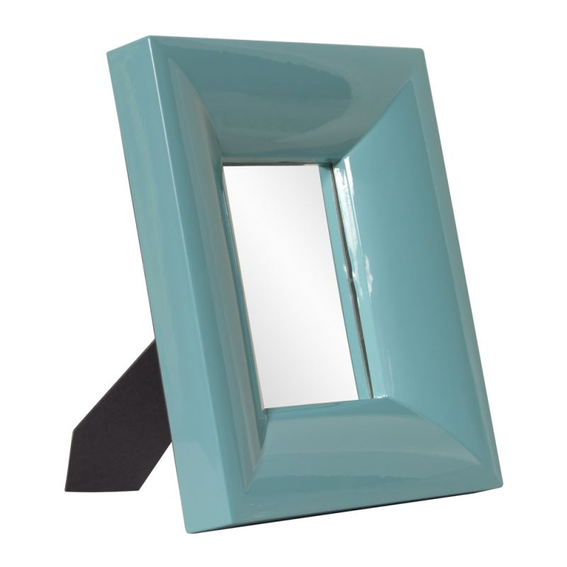 "Howard Elliott 78006 Candy 12"" x 10"" Teal Table Top Mirror - Large"