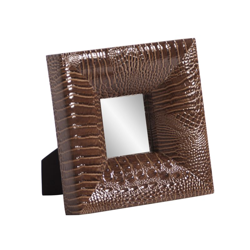 "Howard Elliott 78007 Outback 9"" x 9"" Square Mirror Brown Home Decor"