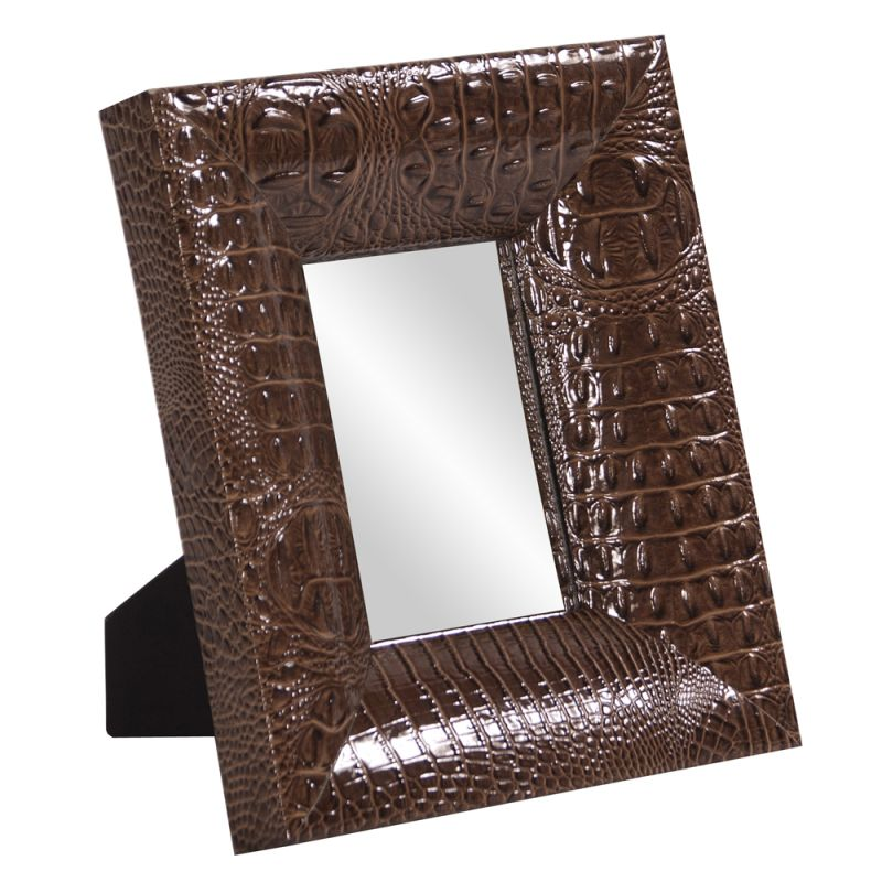 "Howard Elliott 78008 Outback 12"" x 10"" Rectangle Mirror Brown Home"