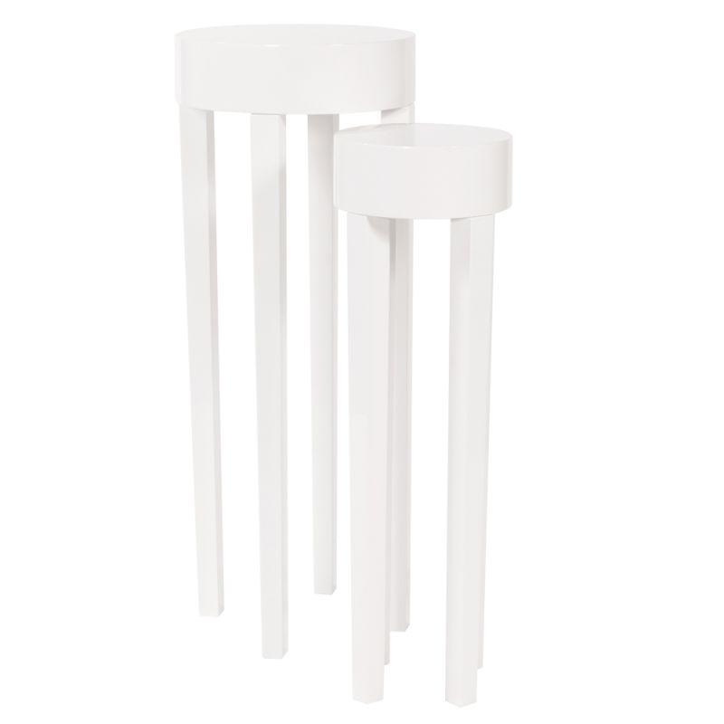 Howard Elliott Glossy White Stiletto Tables (Set of 2) Glossy White