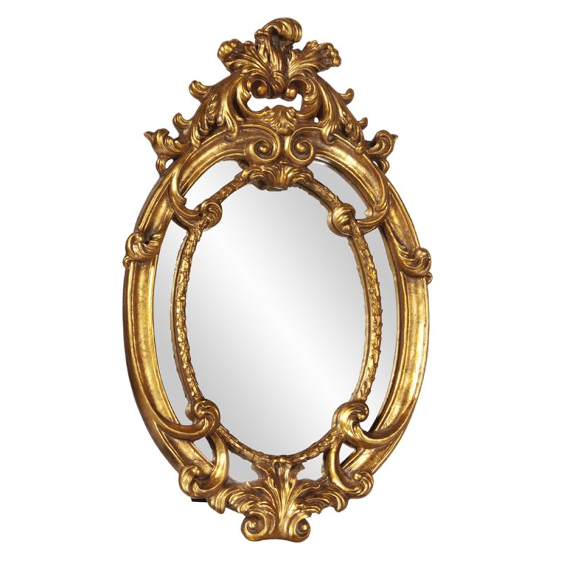 "Howard Elliott Cartwell Baroque Mirror 23"" x 14"" Oval Mirror from the"