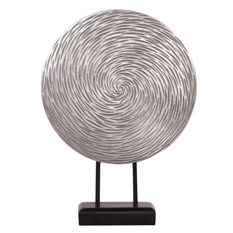 "Howard Elliott Textured Circle Sculpture 19"" Tall Resin Textured"