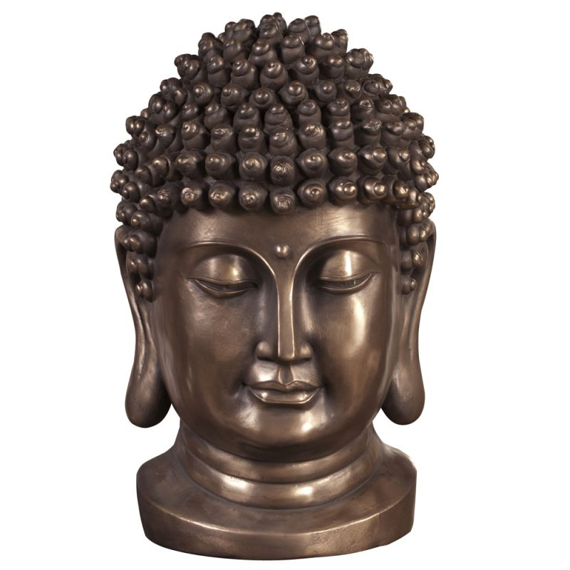 "Howard Elliott Buddha Statue 21"" Tall Resin Buddha Statue Bronze Home"