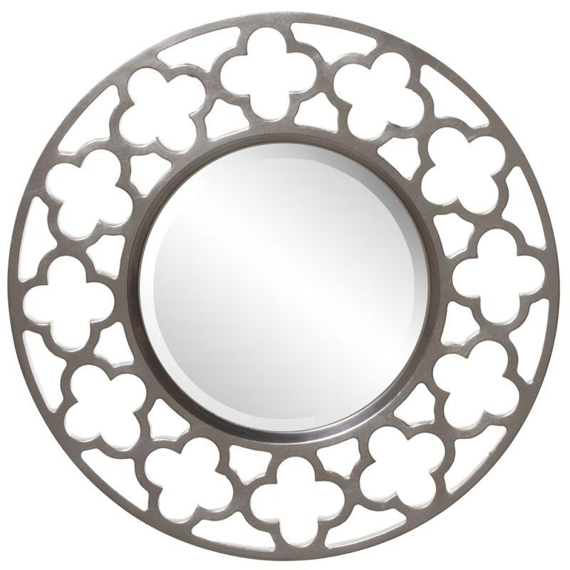 "Howard Elliott 92007 Gaelic 20"" x 20"" Round Nickel Mirror Nickel Home Sale $149.90 ITEM#: 2700689 MODEL# :92007 UPC#: 848635007847 :"