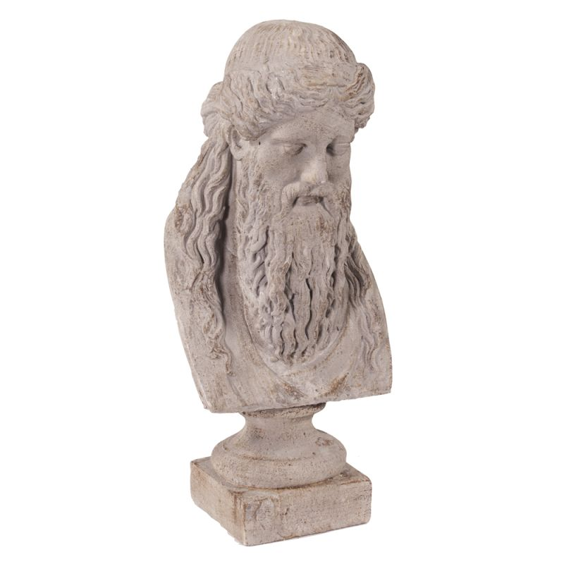 "Howard Elliott Ancient Greek Philosopher Oversized Ceramic Bust 30"""