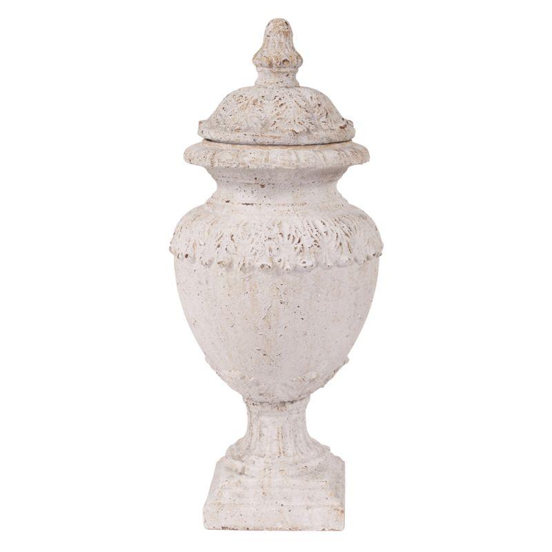 "Howard Elliott Old World oversized Rustic Ceramic Urn with Lid 33"""