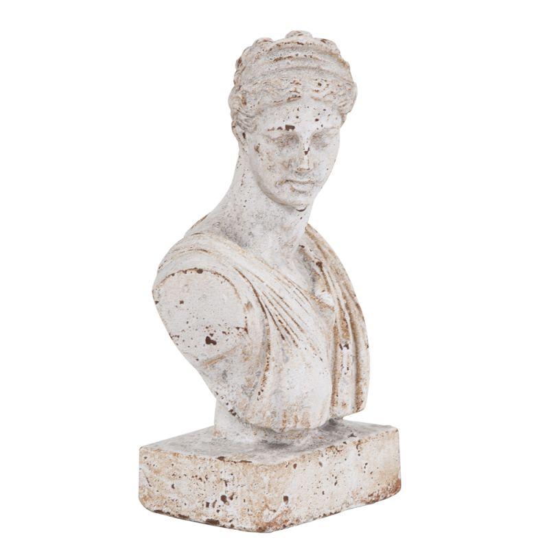 "Howard Elliott Old World Ceramic Female Bust 11"" Tall Ceramic Old"
