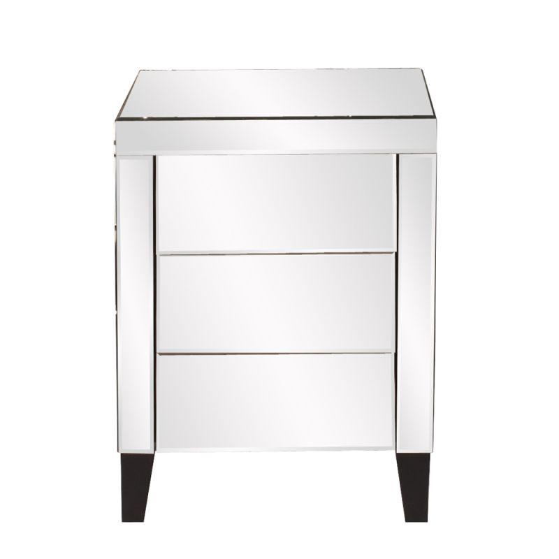 "Howard Elliott Mirrored 3 Drawer Small Dresser 20"" Wide 3 Drawer Wood"