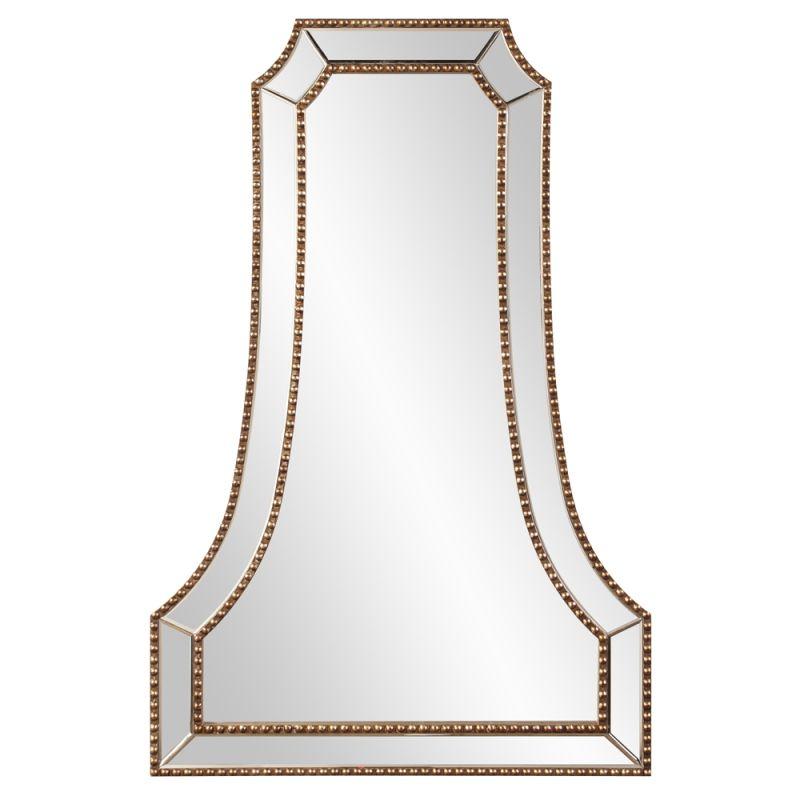 "Howard Elliott 99105 Clara 47"" x 32"" Arched Mirror Gold Home Decor Sale $420.00 ITEM#: 2704768 MODEL# :99105 UPC#: 848635059082 :"