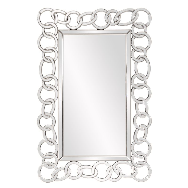 "Howard Elliott Melody Mirrored Chain Mirror 47"" x 31"" Rectangular"