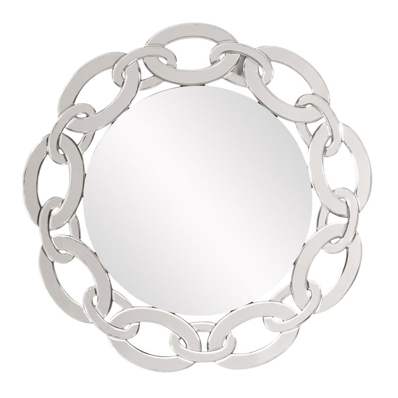 "Howard Elliott Melody Mirrored Chain Round Mirror 31"" Diameter"