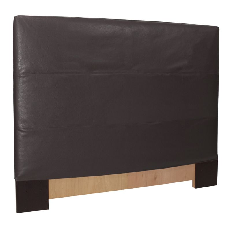 Howard Elliott Avanti Black Slipcovered Headboard Leather 100%
