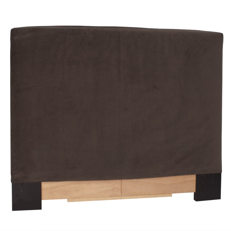 Howard Elliott Bella Chocolate Slipcovered Headboard Chocolate 100%