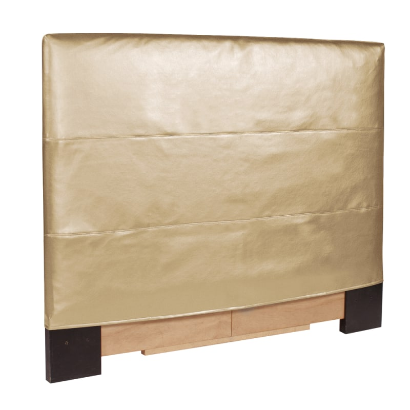 Howard Elliott Shimmer Gold Slipcovered Headboard Gold 100%