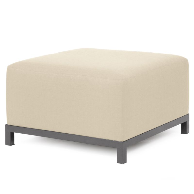 "Howard Elliott Sterling Axis Ottoman with Titanium Frame 30.5"" Square"