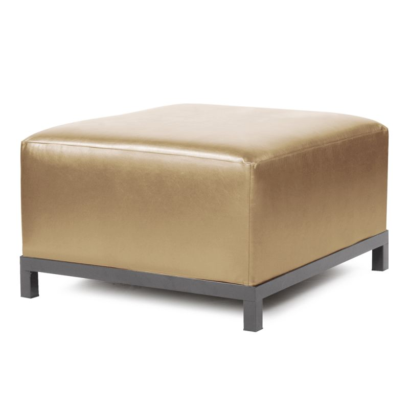 "Howard Elliott Shimmer Axis Ottoman with Titanium Frame 30.5"" Square"