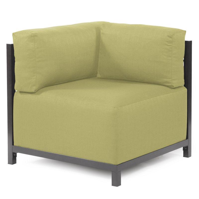 "Howard Elliott Sterling Axis Corner Chair with Titanium Frame 30"" Tall"