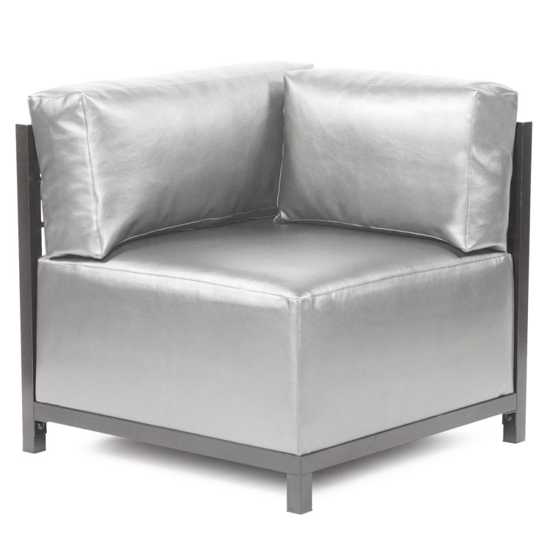 "Howard Elliott Shimmer Axis Corner Chair with Titanium Frame 30"" Tall"