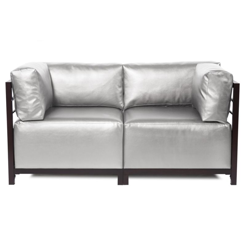 Howard Elliott Shimmer Axis 2 Piece Sectional with Mahogany Frame 65""