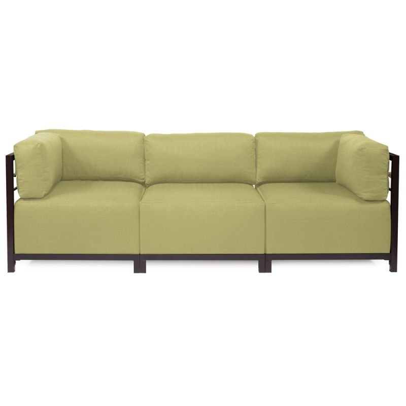 """Howard Elliott Sterling 3 Piece Sectional with Mahogany Frame 95.5"""""""