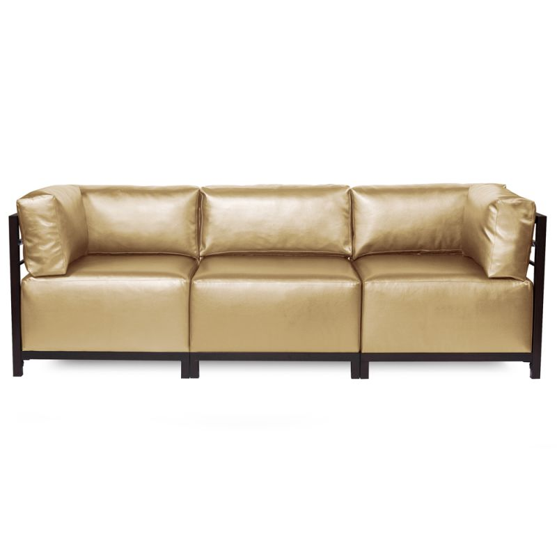 Howard Elliott Shimmer Axis 3 Piece Sectional with Mahogany Frame
