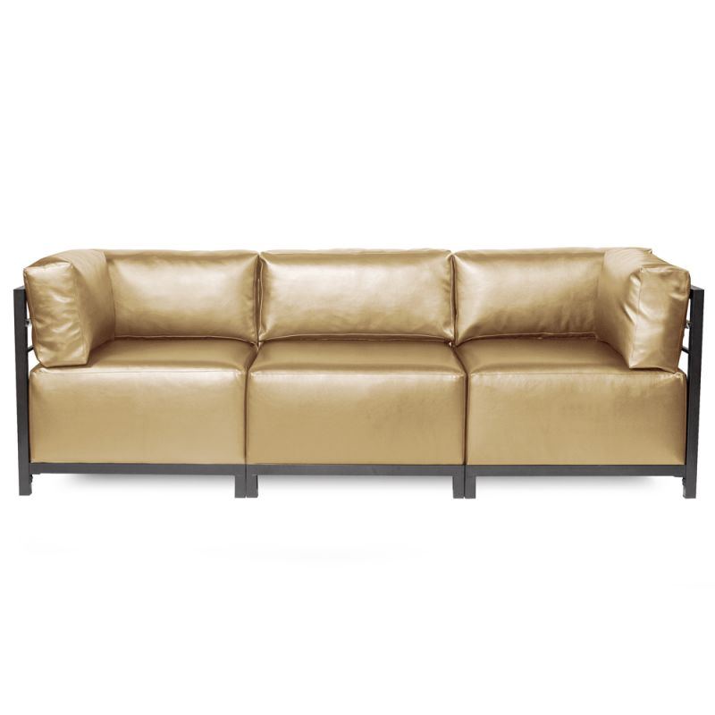 Howard Elliott Shimmer Axis 3 Piece Sectional with Titanium Frame
