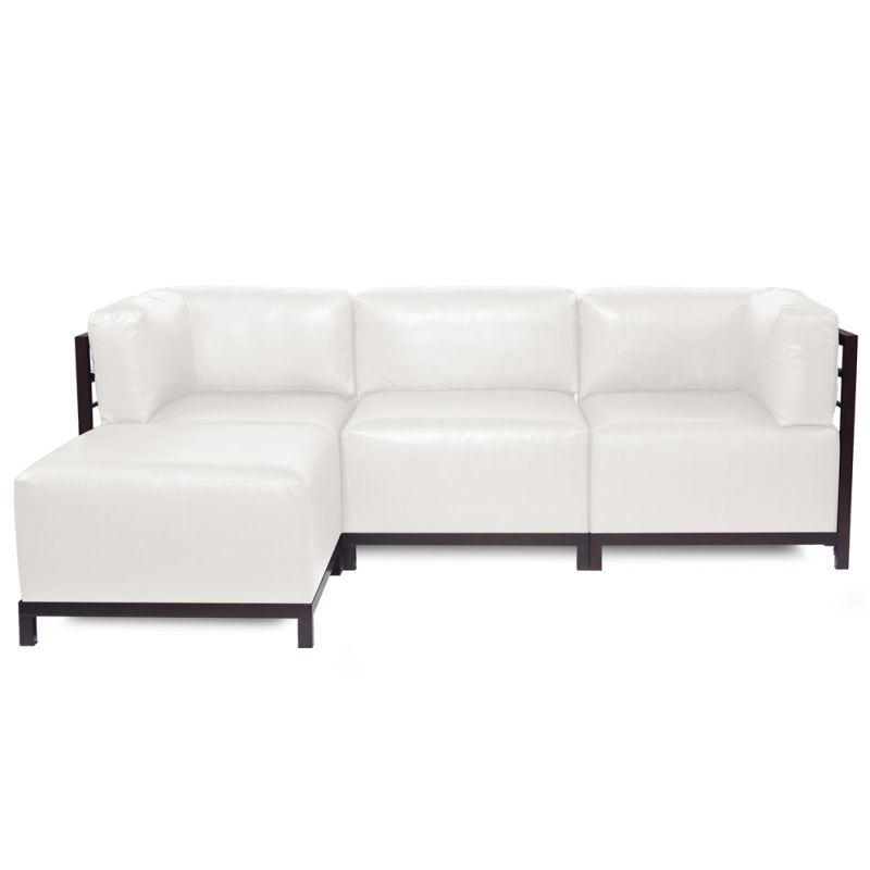 Howard Elliott Avanti Axis 4 Piece Sectional with Mahogany Frame 95.5""