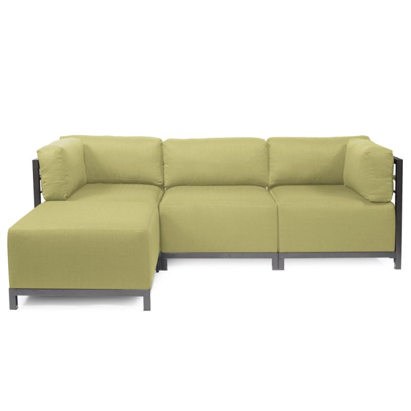 Howard Elliott Sterling 4 Piece Sectional with Titanium Frame 95.5""