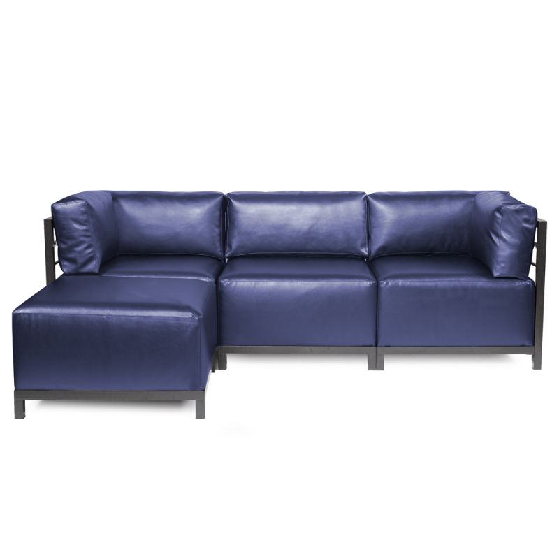Howard Elliott Shimmer Axis 4 Piece Sectional with Titanium Frame