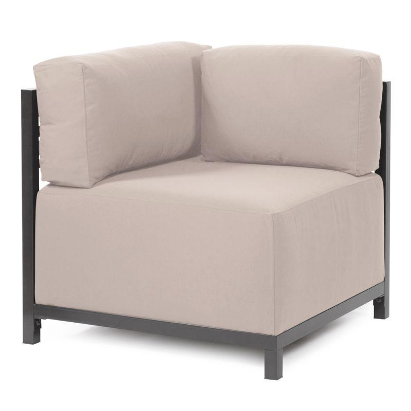 """Howard Elliott Seascape Axis Corner Chair with Titanium Frame 30"""" Tall"""