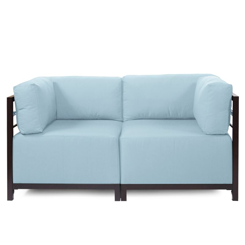 """Howard Elliott Seascape 2 Piece Sectional with Mahogany Frame 65"""" Wide"""
