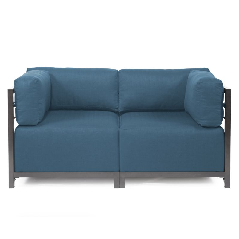 "Howard Elliott Seascape 2 Piece Sectional with Titanium Frame 65"" Wide"