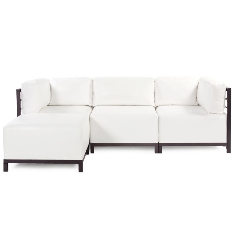 Howard Elliott Atlantis 4 Piece Sectional with Mahogany Frame 95.5""