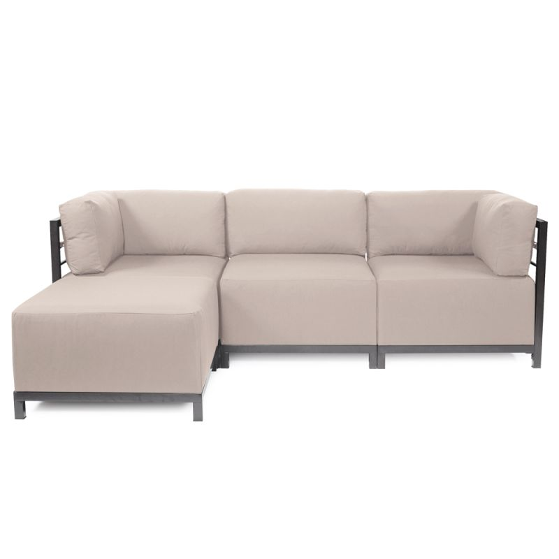 Howard Elliott Seascape 4 Piece Sectional with Titanium Frame 95.5""