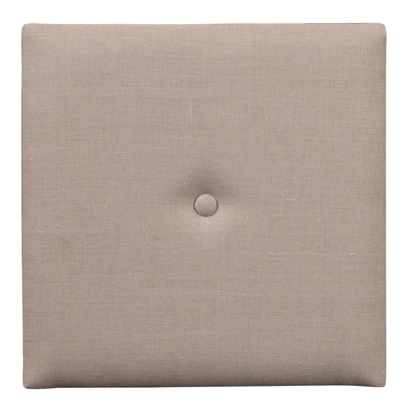 "Howard Elliott Prairie Wall Pixel I with Button 16"" x 16"" Linen"