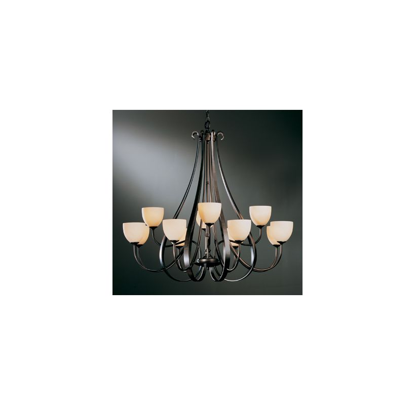Hubbardton Forge 19214812HG 12 Light Up Lighting Two Tier Chandelier