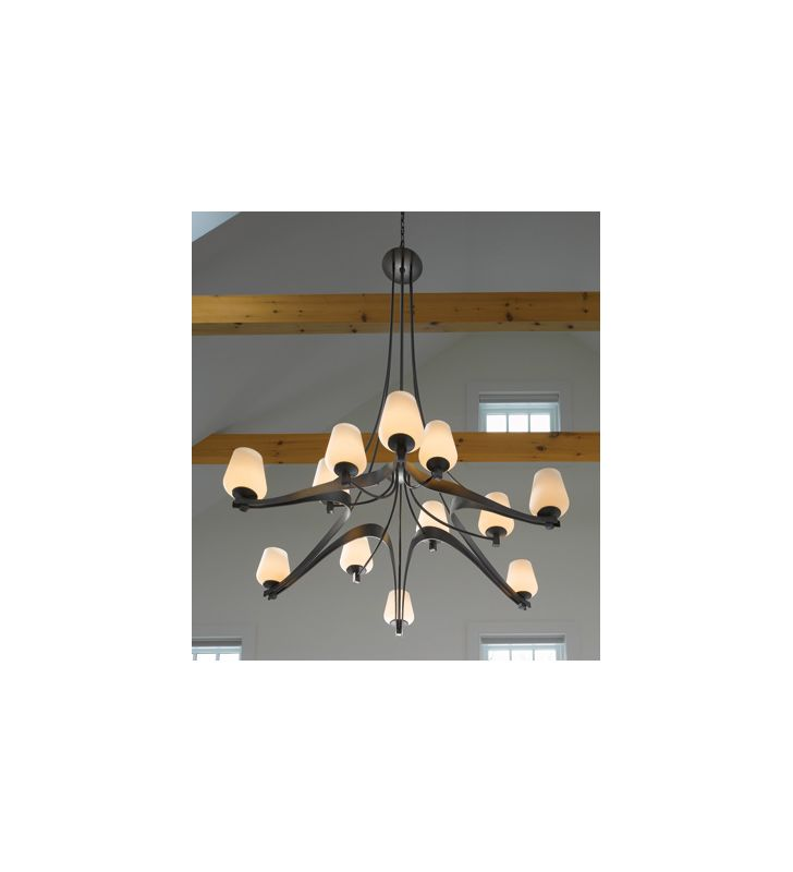 Hubbardton Forge 19415612HG Made-to-Order Two-Tier 12 Light Chandelier