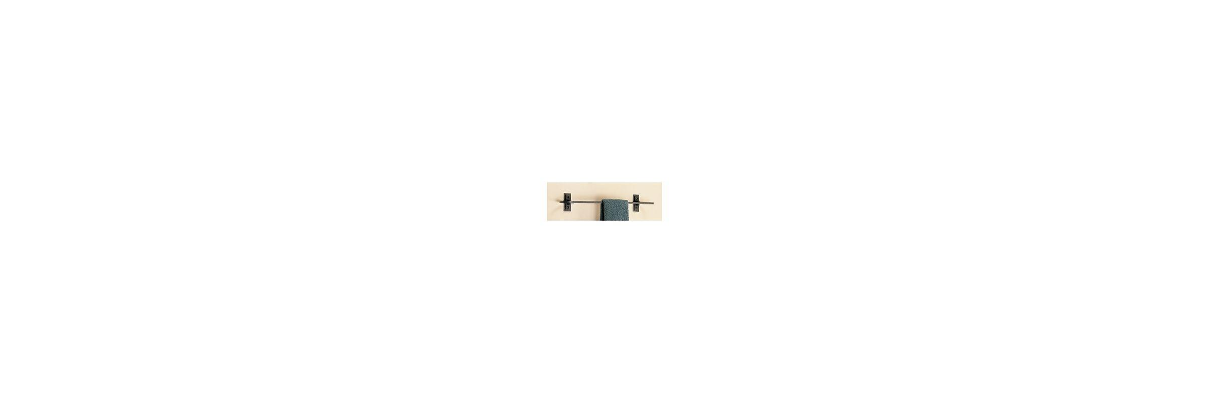 "Hubbardton Forge 841016 21"" Metra Curved Towel Bar Natural Iron"