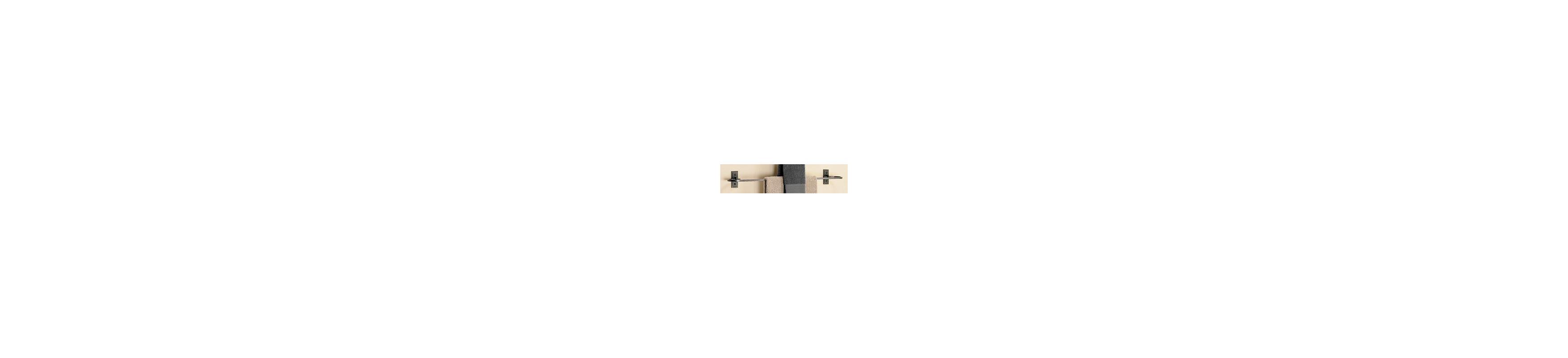 "Hubbardton Forge 841024 29"" Metra Curved Towel Bar Natural Iron"