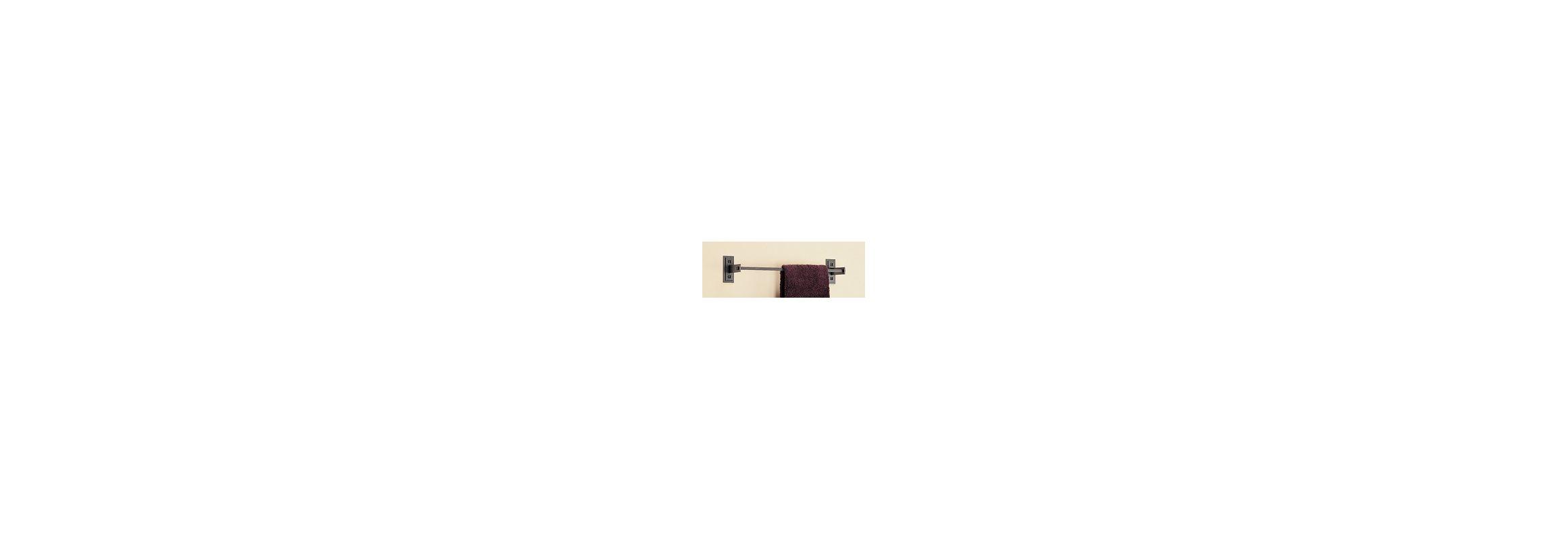"Hubbardton Forge 842016 17.5"" Metra Towel Holder Natural Iron"
