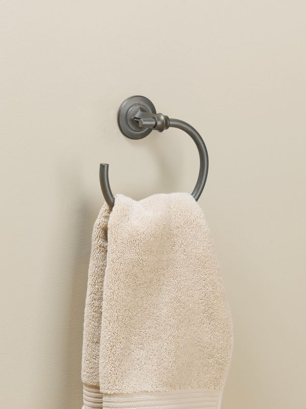 "Hubbardton Forge 844003 7.3"" Towel Ring from the Rook Collection"
