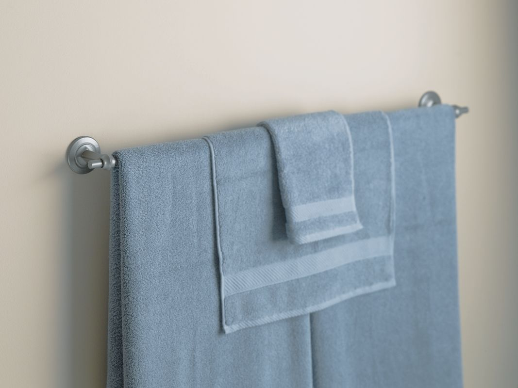 """Hubbardton Forge 844015 34.5"""" Towel Bar from the Rook Collection"""