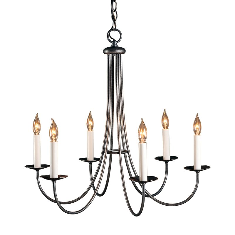"Hubbardton Forge 101160 Simple Lines 6 Light 26"" Wide Candle Style"