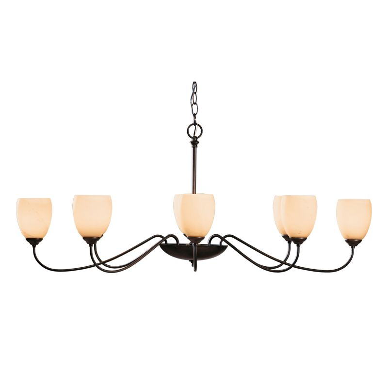 "Hubbardton Forge 101308 Oval 8 Light 28"" Wide Chandelier with"
