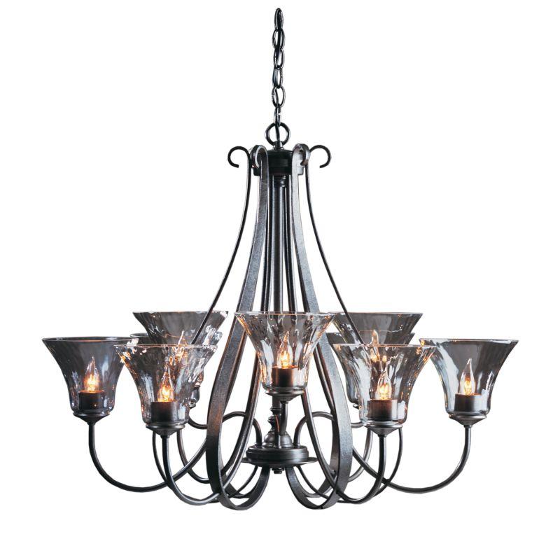 "Hubbardton Forge 101458 Sweeping Taper 9 Light 33"" Wide Chandelier Sale $2395.80 ITEM#: 1231930 MODEL# :101458-07-L22 :"