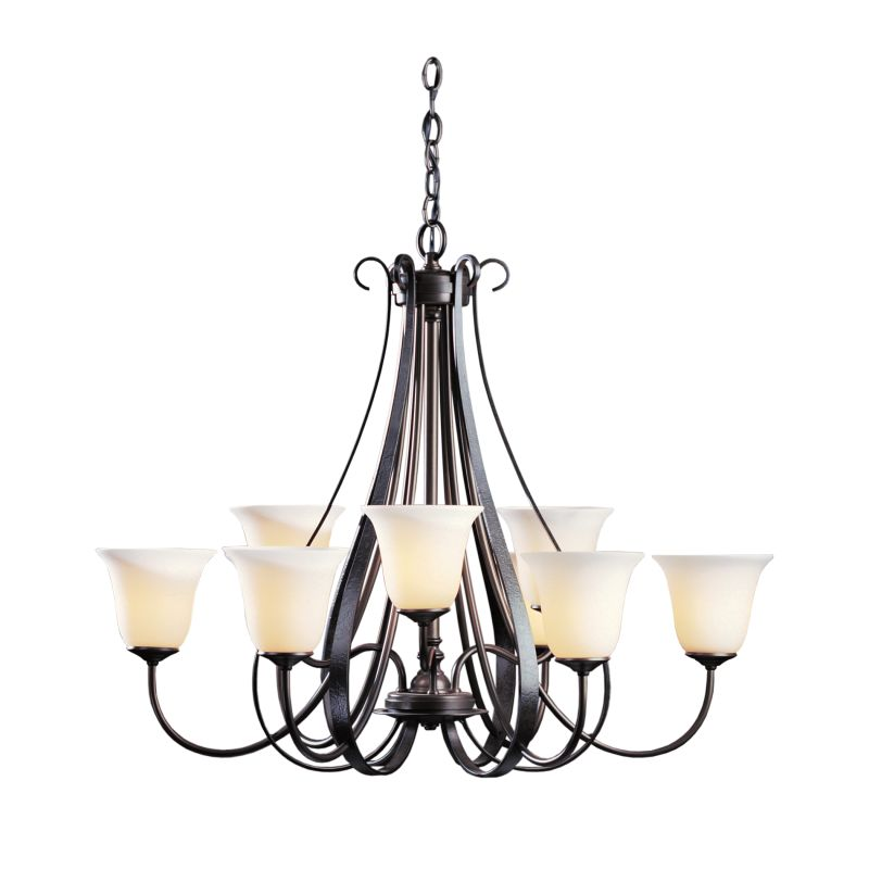 "Hubbardton Forge 101459 Sweeping Taper 9 Light 32"" Wide Chandelier Sale $2373.80 ITEM#: 1333971 MODEL# :101459-07 :"
